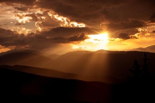 Mountain Sunset Scener